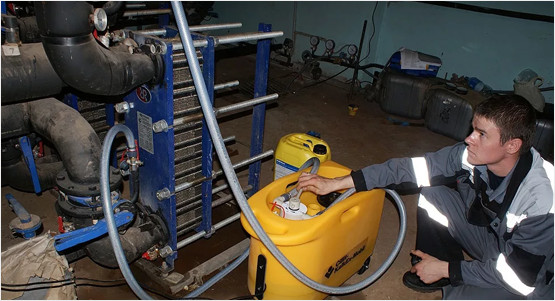 Химическая промывка пластинчатых теплообменников цена Кожухотрубный испаритель ONDA HPE 590 Подольск
